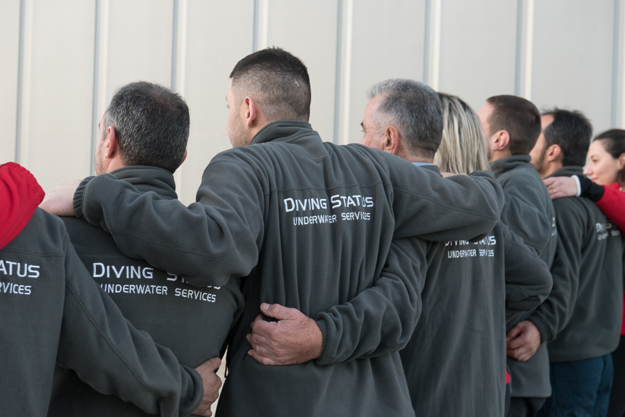 Diving status corporate portrait photography company