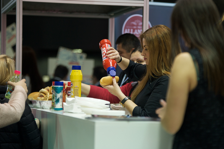 med foods brava delicia mustard ketchup mayo event food expo