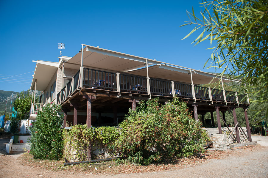 tserfos camping sea seaside hotel tavern interior exterior
